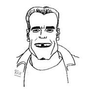 Arnold Schwarzenegger OLDY/OUDJE karikaturen karikatuur