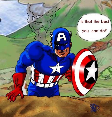 Captain America kleur Marvel