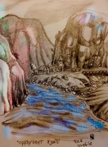 Landschap fjord fictief
