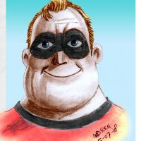 Mr. Incredible Pixar kleur