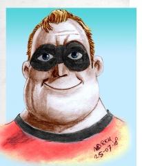 Mr. Incredible Pixar kleur