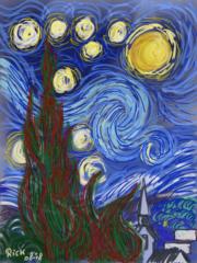Landschap kleur inspired by van Gogh