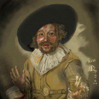 Frans Hals, de vrolijke drinker, schilderij, kunst