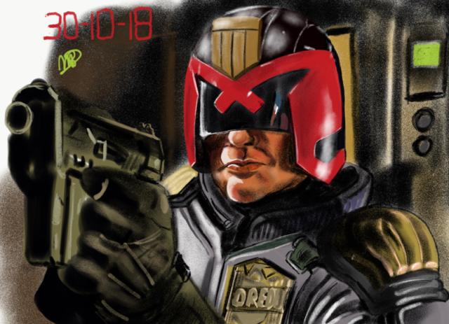 Dredd, SF, sci-fi wapen