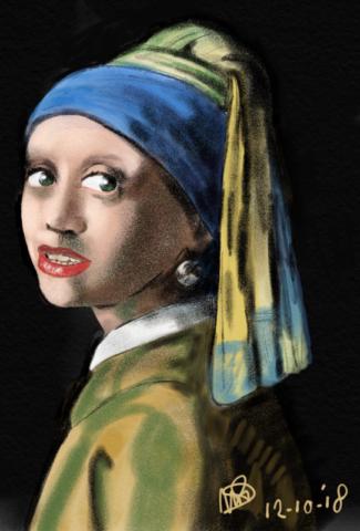 Girl with a pearl schilderij, vermeer, kunst