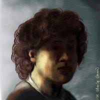 Portret op jeugdige leeftijd Schilderij van Rembrandt van Rijn kunst