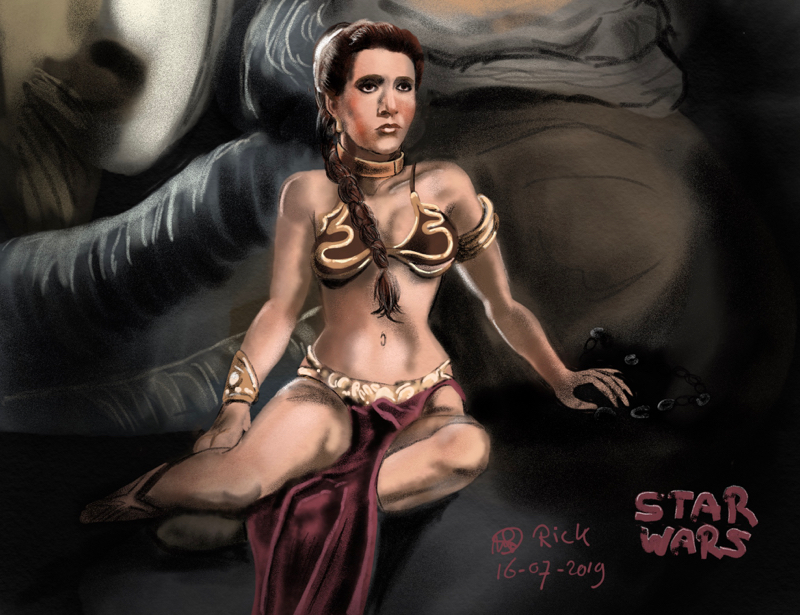 Star Wars Slavegirl sf scifi sci-fi