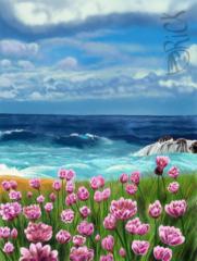 Shore, beach, ocean, sea, landschap
