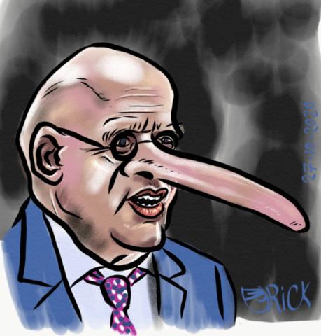 Politiek Pinokkio grap leugenaar
