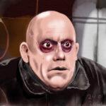 Fester Addams realistische tekening